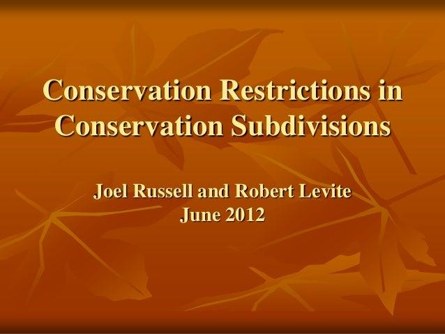 Mapd conservation development presentation 6 7-12