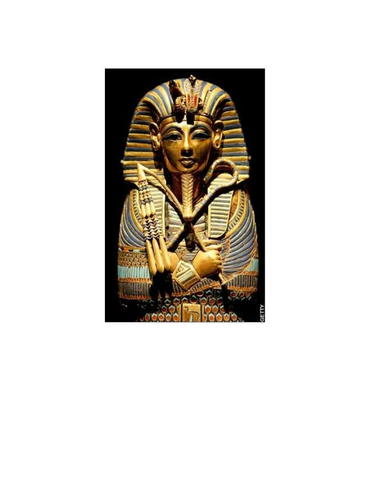Tutankhamen's Coffin was covered by a nest of Golden Shrines.<br />