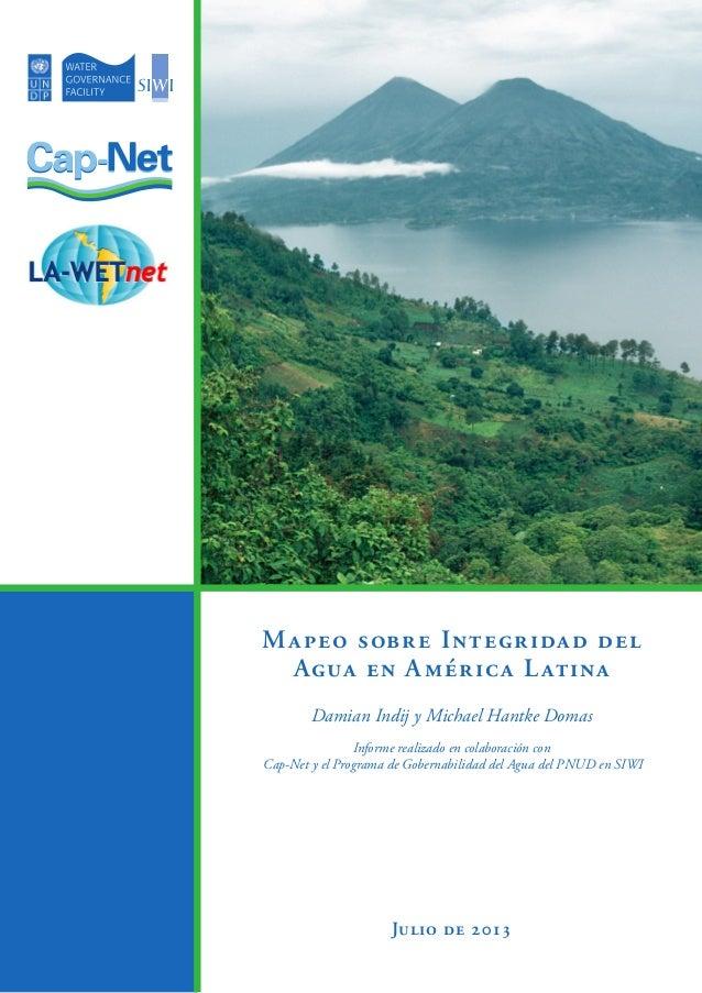 Mapeo Sobre Integridad del Agua en A.L.