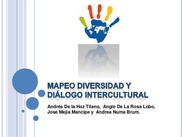 Andrés De la Hoz Tilano, Angie De La Rosa Lobo, Jose Mejia Mancipe y Andrea Numa Brum.