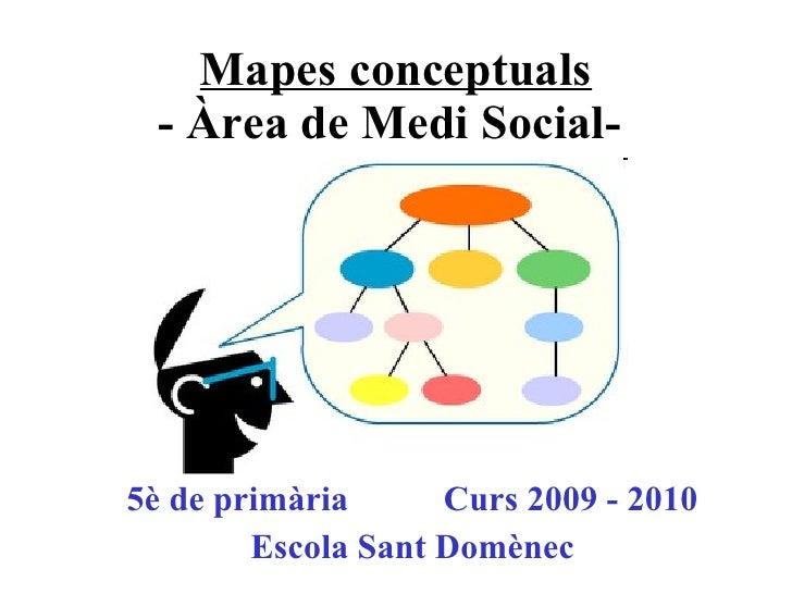 Mapes conceptuals - Àrea de Medi Social-   5è de primària Curs 2009 - 2010 Escola Sant Domènec