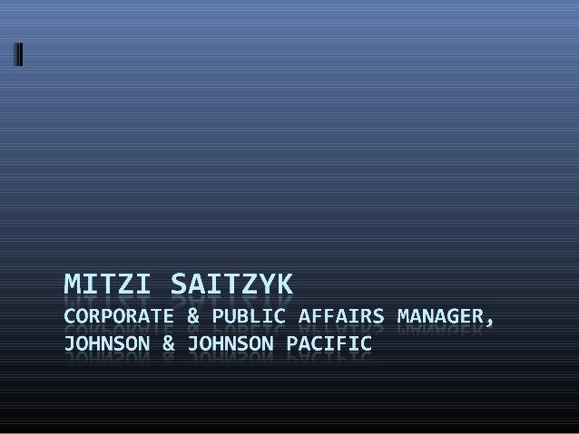 MAPexpo 2012 - Mitzi Saitzyk (Corporate & Public Affairs Manager, Johnson & Johnson Pacific)