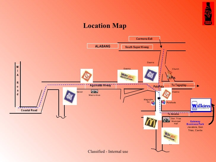 Location Map Classified - Internal use