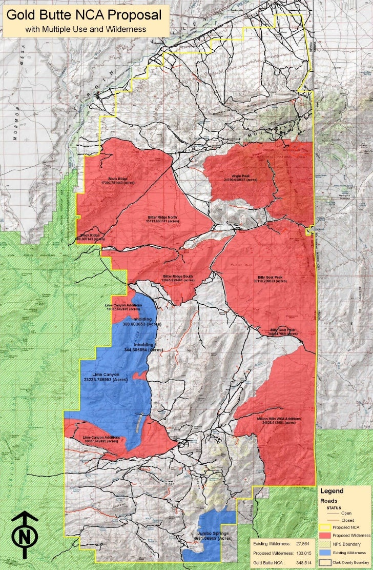 Gold Butte NCA Proposal Map