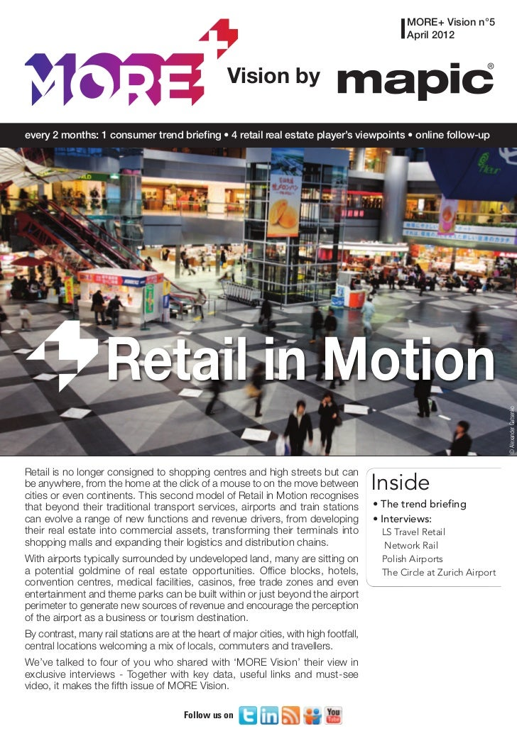 MORE Vision by MAPIC: 5 - Retail in Motion