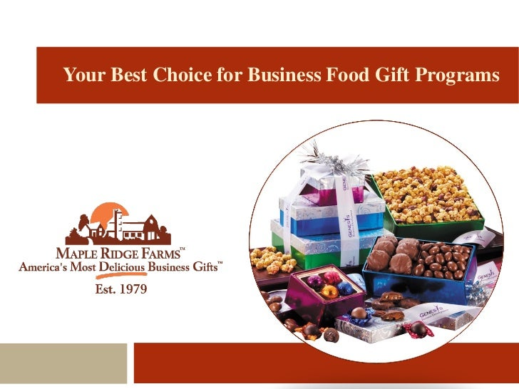 Maple Ridge Farms Holiday Food Gifts Programs Made Deliciously Easy