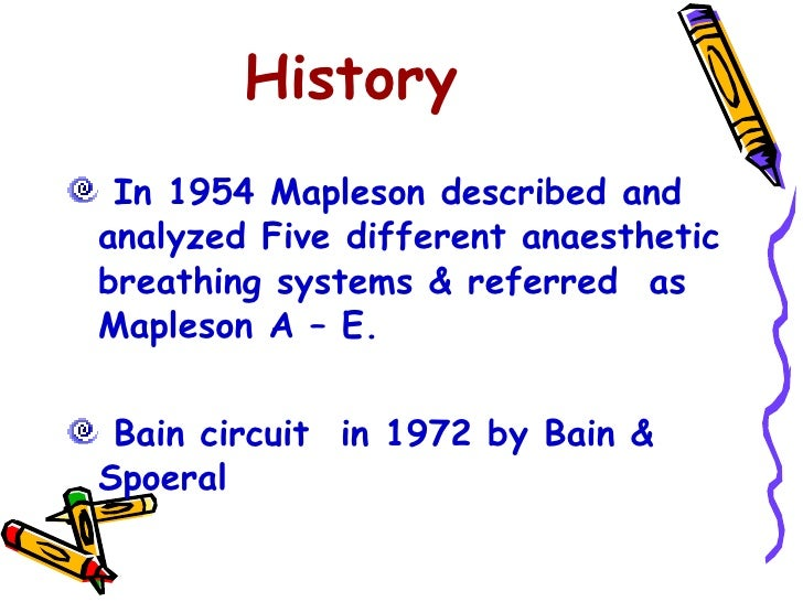 Mapleson breathing systems for Ravi s bains md