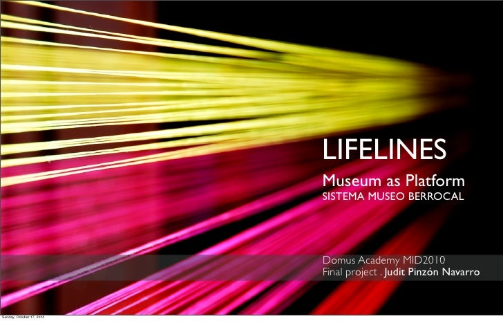 LIFELINES                            Museum as Platform                            SISTEMA MUSEO BERROCAL                 ...
