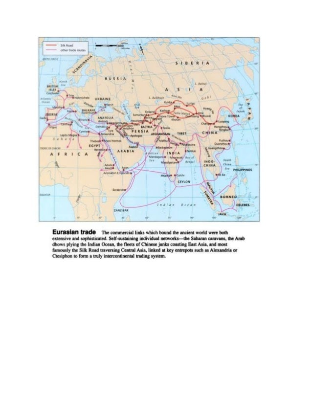 Map of ancient trade