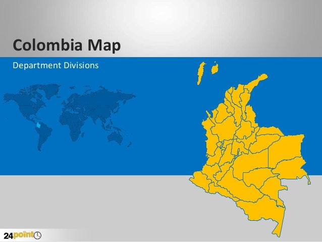 Colombia Map Department Divisions