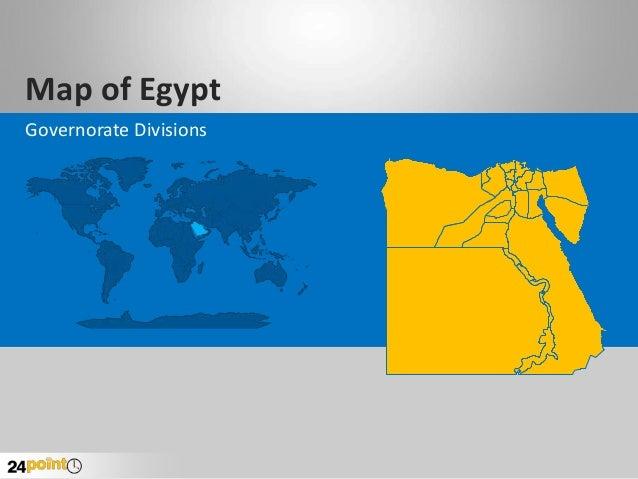 Editable PowerPoint Map of Egypt