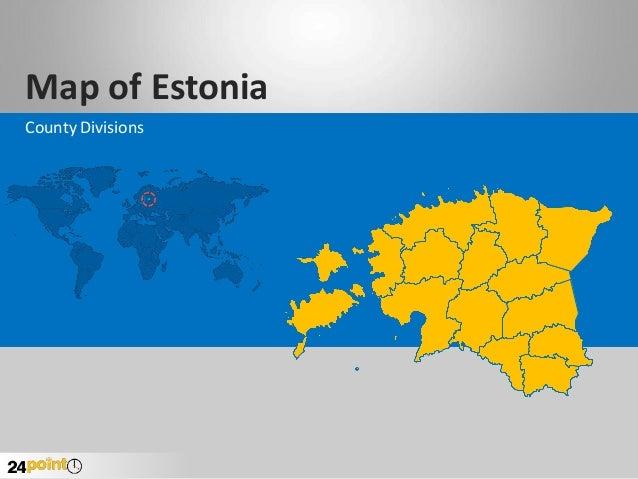 Estonia Map - Editable PowerPoint Slides