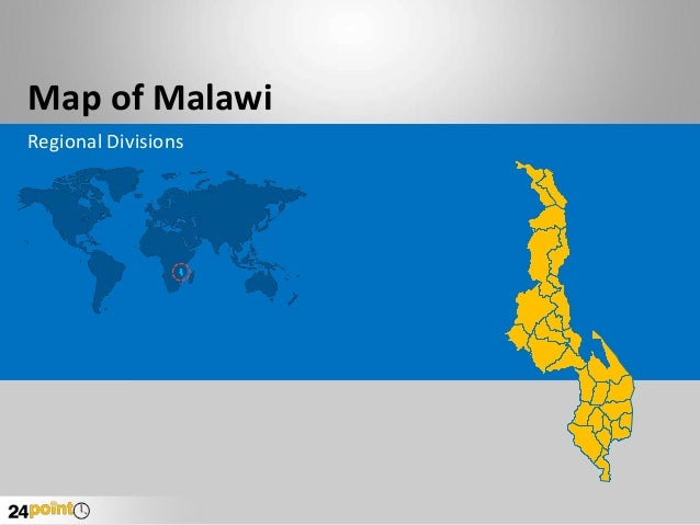 Malawi Map - Fully Editable in PowerPoint