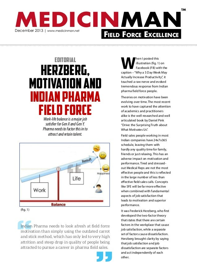 TM  MEDICINMAN December 2013 | www.medicinman.net  Field Force Excellence  Editorial  Herzberg, Motivation and Indian Phar...