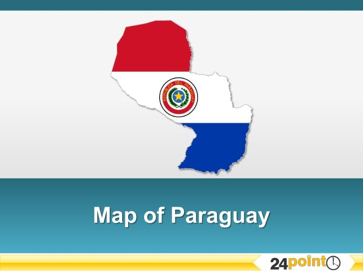 PowerPoint Presentation Map of Paraguay