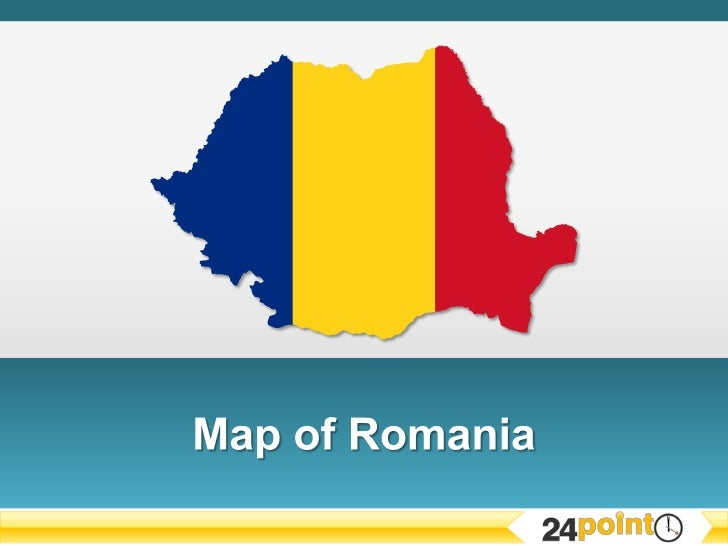 Customizable PowerPoint Map of Romania