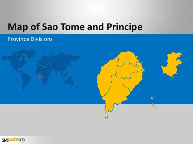 Map of Sao Tome and Principe Province Divisions