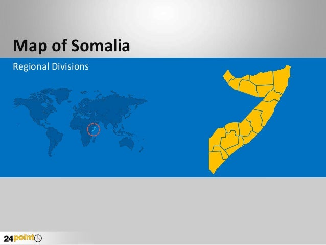 Map of Somalia Regional Divisions