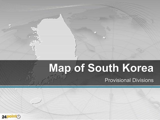 South Korea Editable PowerPoint Map