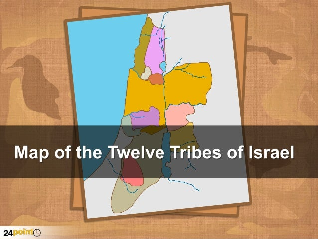 The 12 Tribes of Israel Map - PowerPoint Map