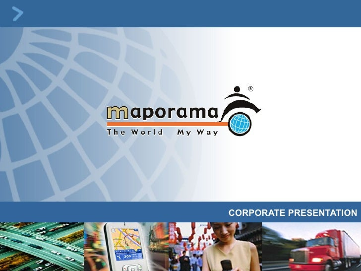 Maporama Intl. Corporate presentation