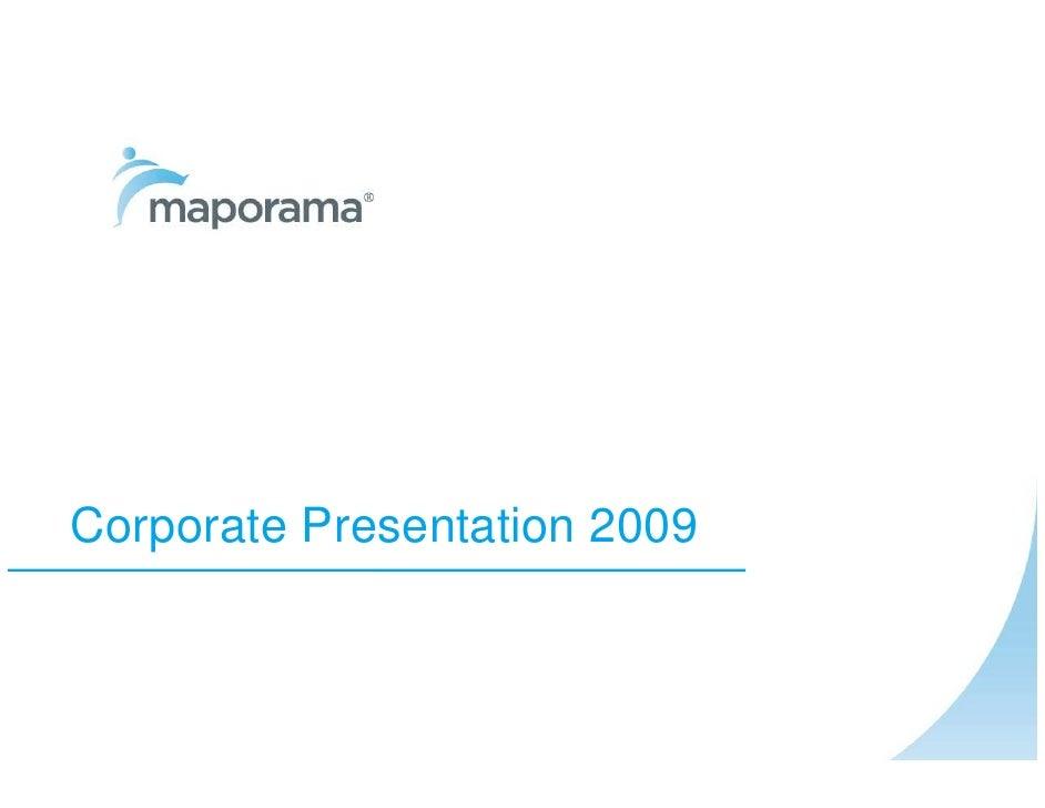 Corporate Presentation 2009