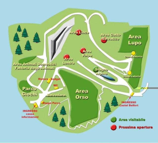 Mappa parco faunistico orso bruno spormaggiore