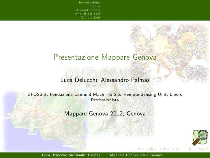 Mappare genova