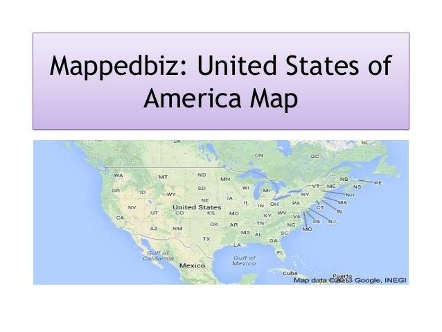 Mappedbiz - Detailed Map of USA