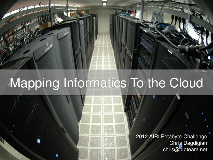 Mapping Life Science Informatics to the Cloud