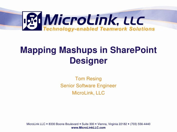 Mapping Mashups in SharePoint Designer