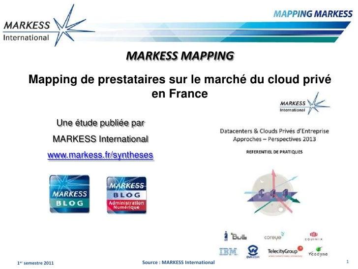 MARKESS MAPPING     Mapping de prestataires sur le marché du cloud privé                          en France               ...