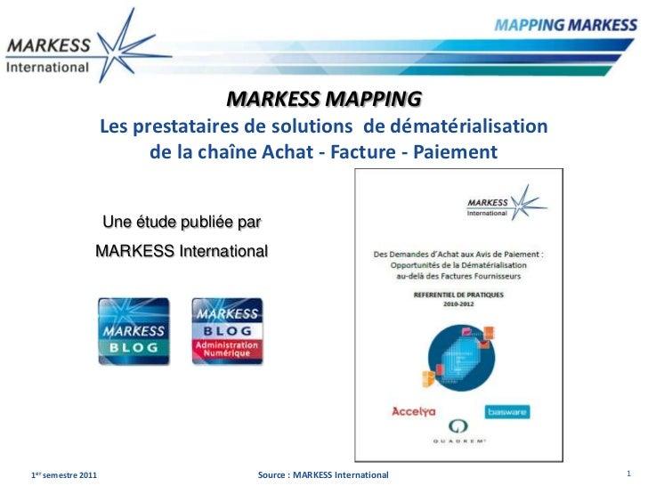 MARKESS MAPPING                    Les prestataires de solutions de dématérialisation                          de la chaîn...