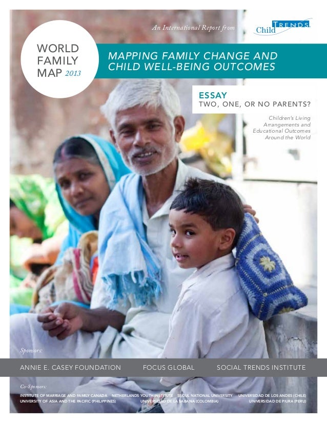 Mapping family change and child well being outcomes