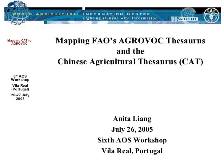 Mapping FAO's AGROVOC Thesaurus