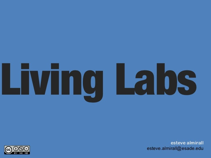 Mapping Living Labs Esteve Almirall
