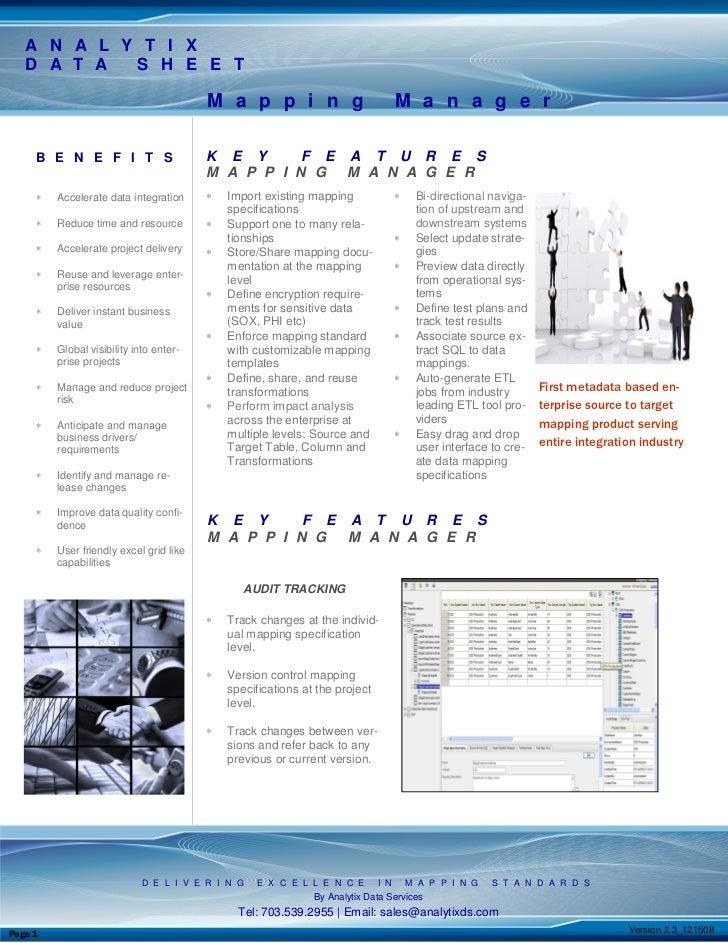 Mapping Manager Datasheetv