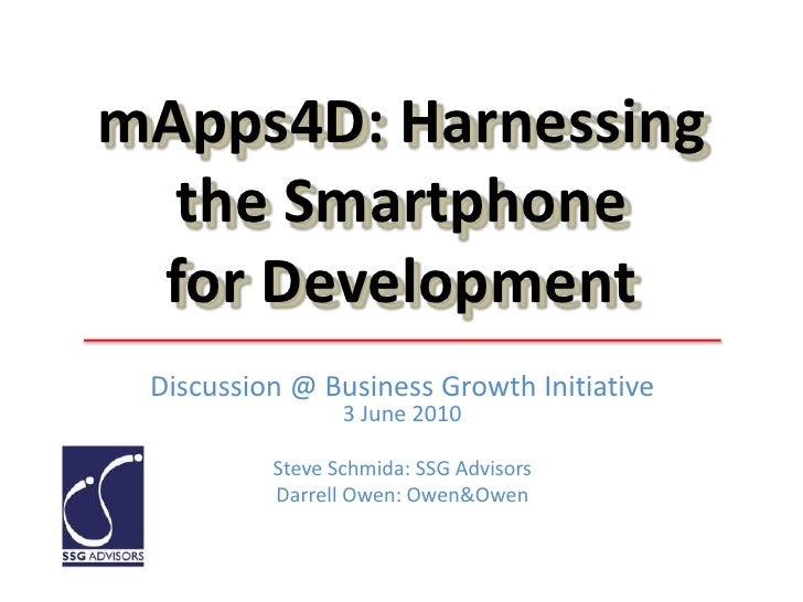 Mobile Apps for Development