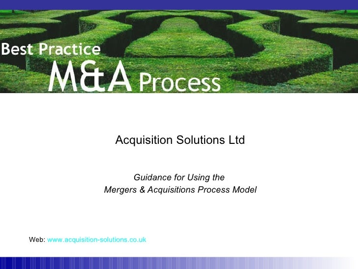 merger and acquisition process pdf