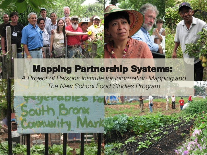 Mapping Partnership Systems:  A Project of Parsons Institute for Information Mapping and The New School Food Studies Program