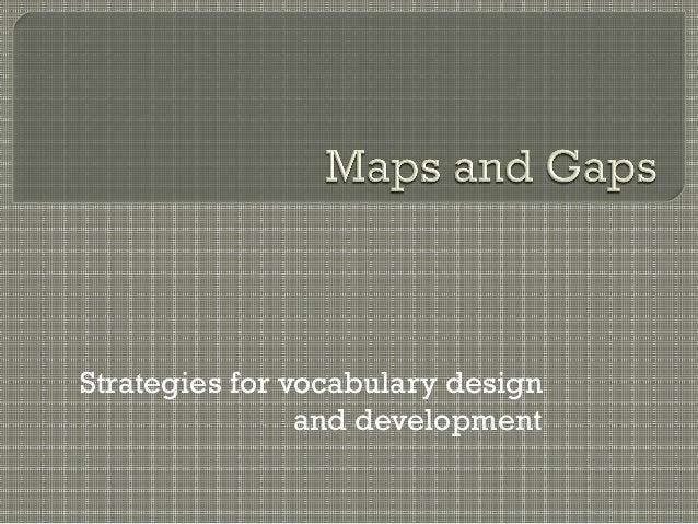 Strategies for vocabulary design and development
