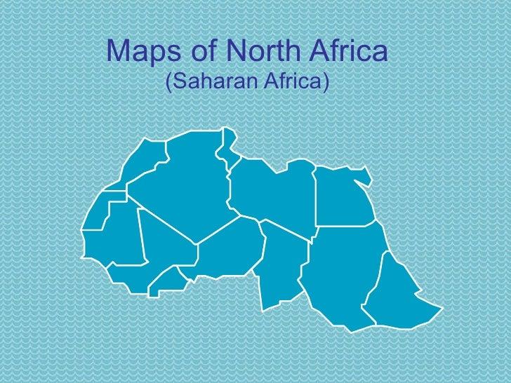 Maps of North Africa (Saharan Africa)