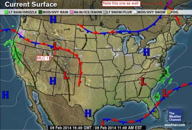 Midlatitude Cyclone Tracking Spring 2014