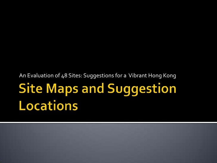 DesigningHongKong Waterfront Survey Site Maps and Suggestion Locations