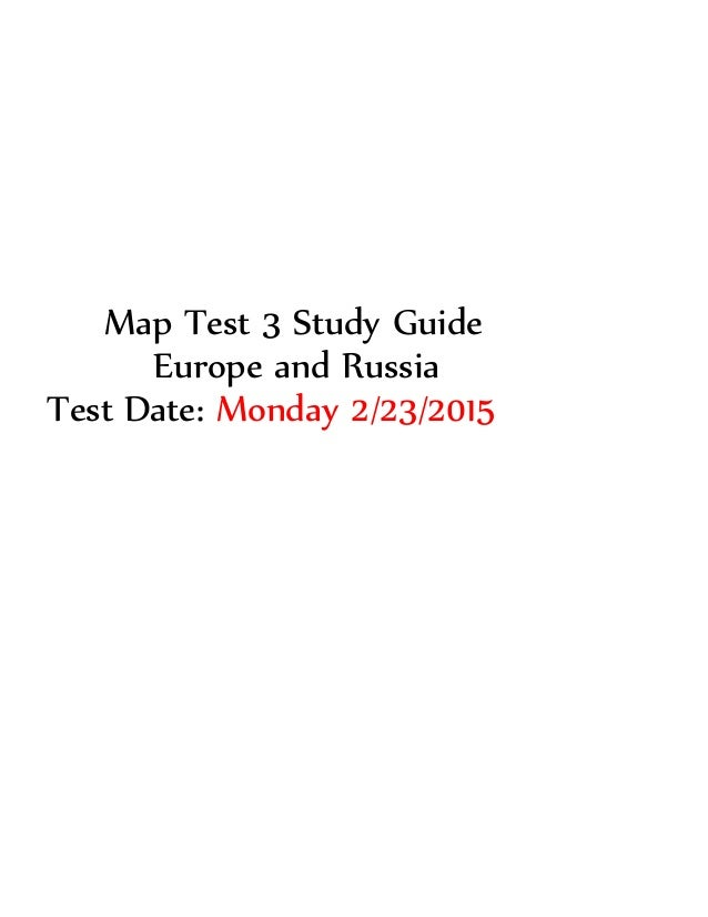 Russia Map Test Map Test 3 Study Guide Europe