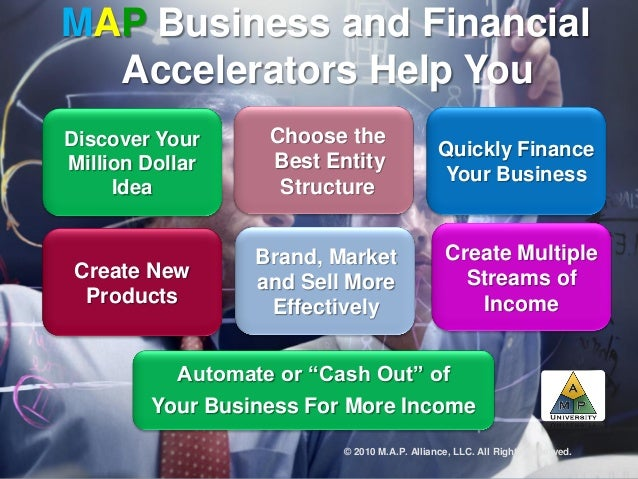 "MAP Business and Financial Accelerators Help You Automate or ""Cash Out"" of Your Business For More Income Discover Your Mil..."