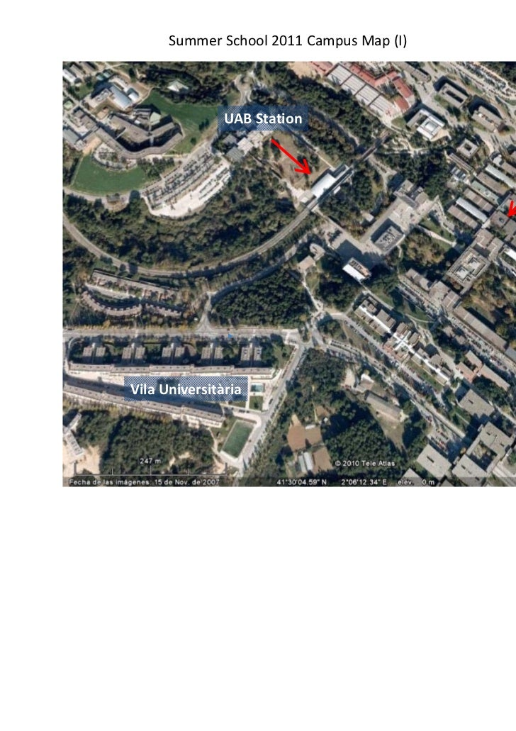 Summer School 2011Campus Map (I)               UABStation                Faculty of                                     ...