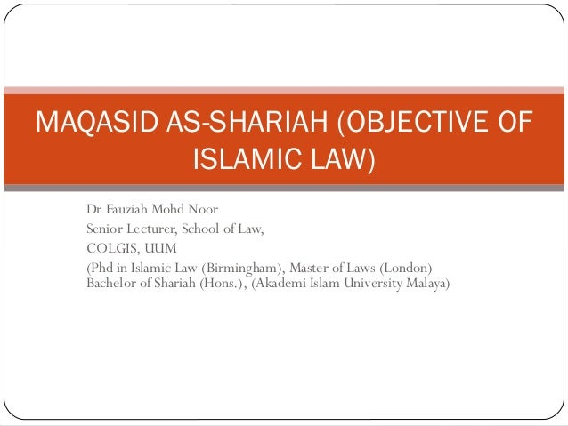 maqasid shariah Kajian maqasid al syariah ini kemudian mendapat tempat dalam ushul fiqh, yang dikembangkan oleh para ushuli dalam penerapan qiyas,.