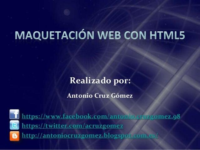 Maquetación web con html5