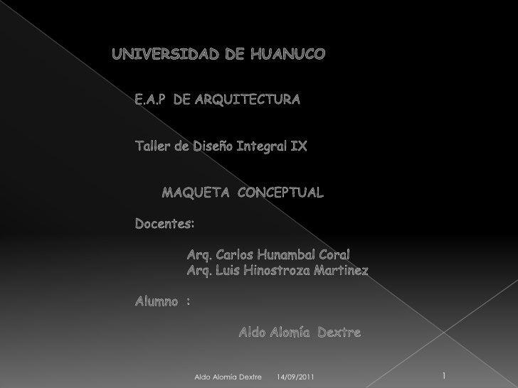 Maqueta conceptual